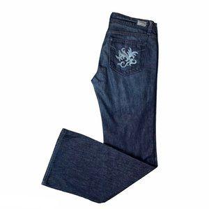 Paige Premium Denim Size 31 Dark Wash Flare Jeans